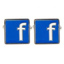 Boutons de manchette logo Facebook