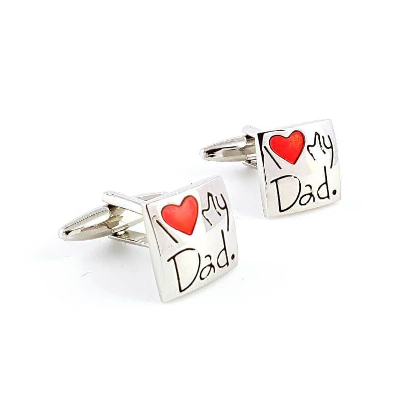 Boutons de manchette I love my dad - J'aime mon père