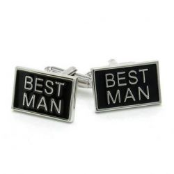 Boutons de manchette Best Man forme rectangle