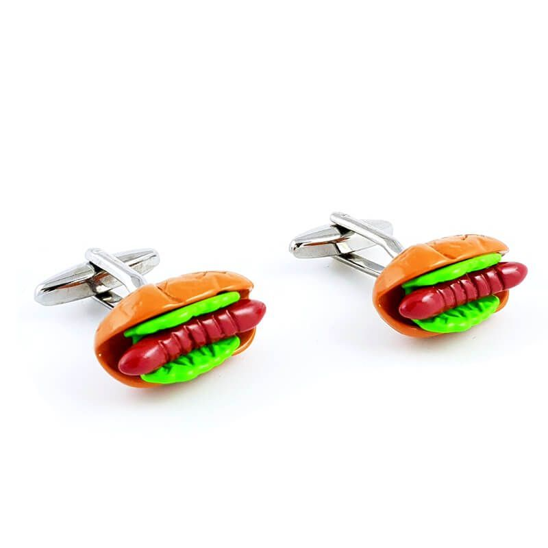Boutons de manchette Hot-Dog