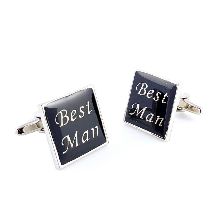 Boutons de manchette Best Man carré
