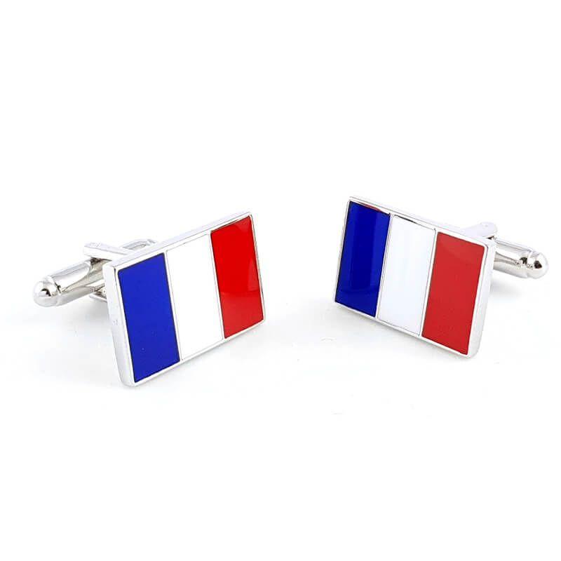 Boutons de manchette drapeau tricolore Français