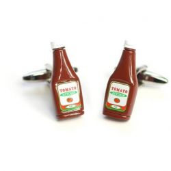 Boutons de manchette bouteille de ketchup