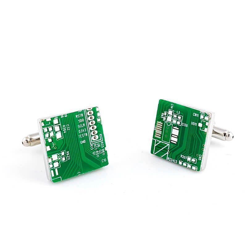 Boutons de manchette circuit imprimé électronique