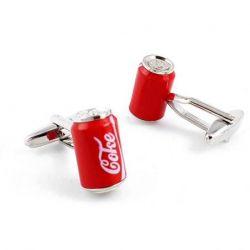 Boutons de manchette canette de soda Coca-cola