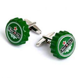 Boutons de manchette capsule de bière