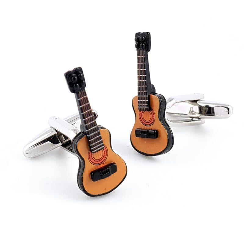 Boutons de manchette guitare classique